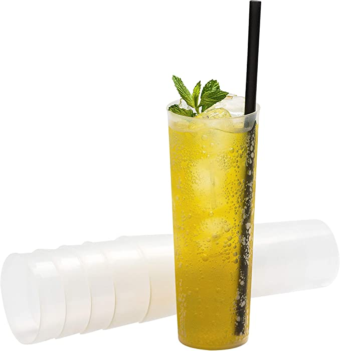 Party Cups - Flexible Plastic Highball Glasses Pack of 30 Tumblers
