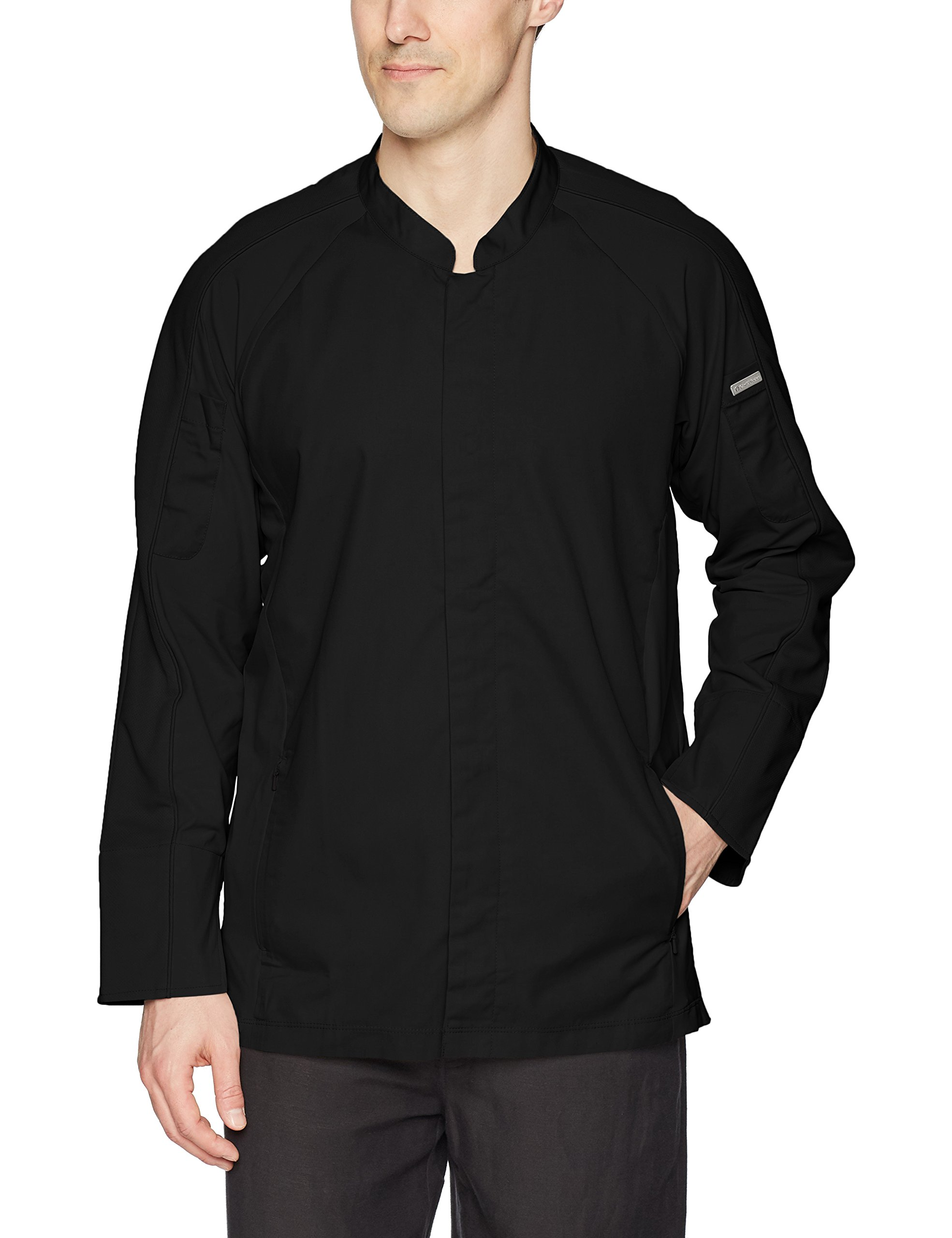 Chef Works Men's Valencia Chef Coat, Black, 2X-Large by Chef Works