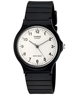 Casio Quartz Resin Casual Watch, Color:Black (Model: MQ24-7B)