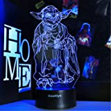 3D Star Wars Night Light, 16 Colors Changing Night Lights with Remote & Smart Touch, Christmas and Birthday Gifts for…