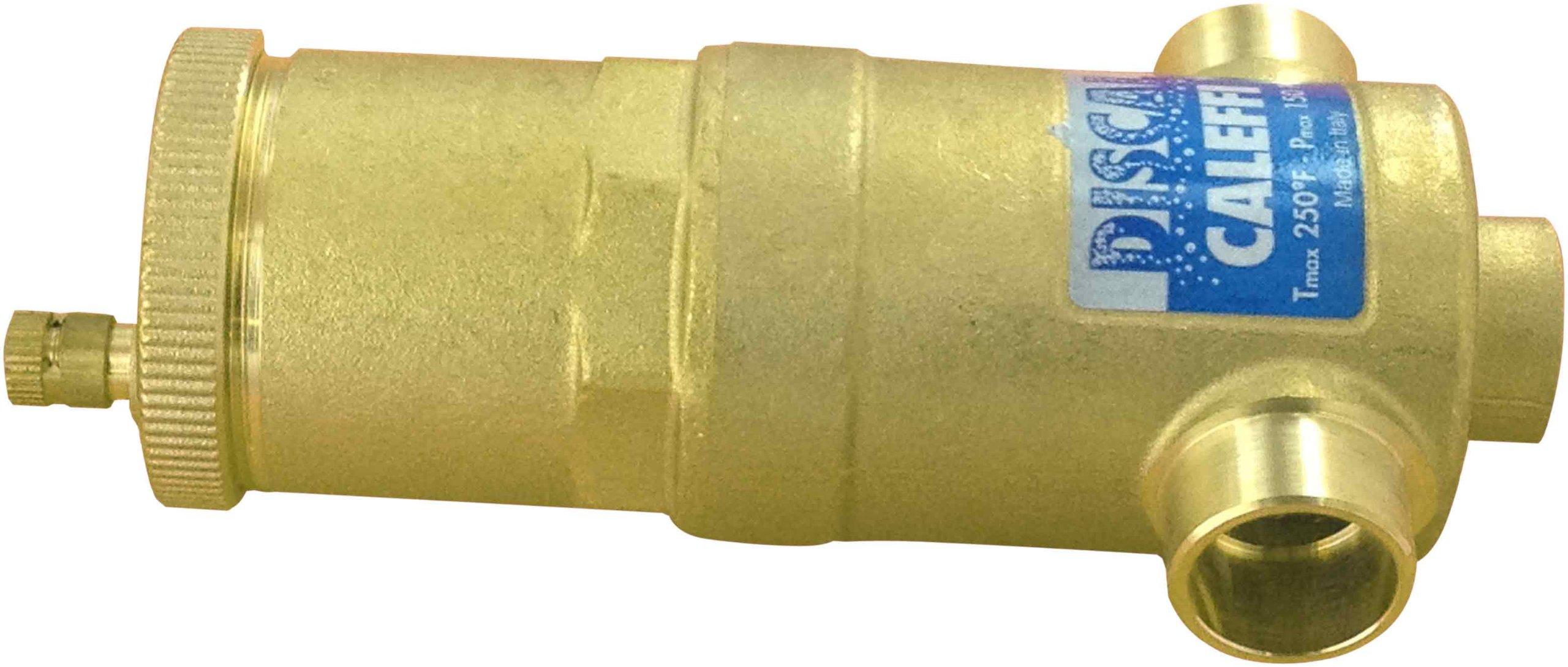 Caleffi 551022A 3/40-Inch 150 PSI Compact Brass Sweat Air Separator by Caleffi