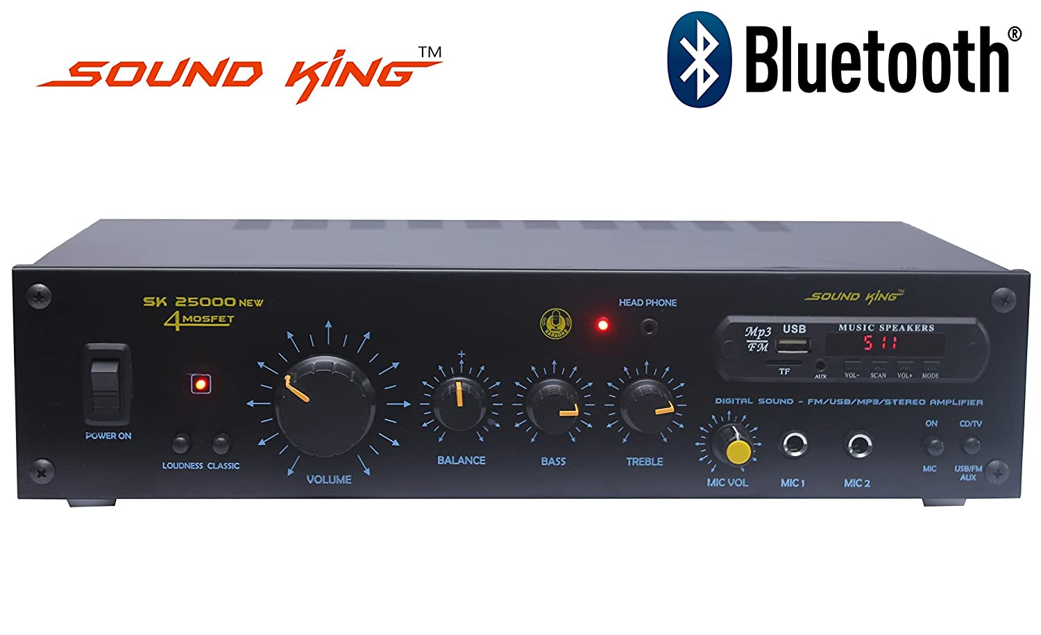 Sound King Sk 25000 2 Ch Amplifier Computers Accessories Dynamic Microphone Preamplifier Mono By 3 Transister C945