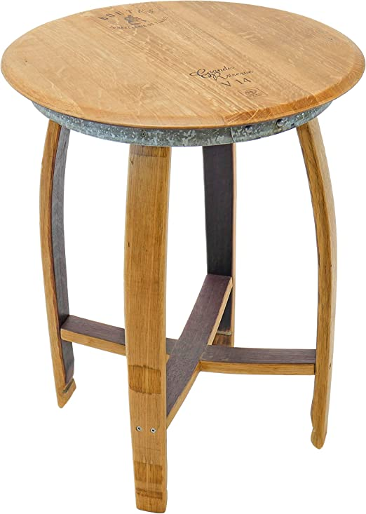 Amazon Com Isabella Side End Table Wine Barrel Handcrafted Central Coast Creations Wine Barrel Furniture Kitchen Dining