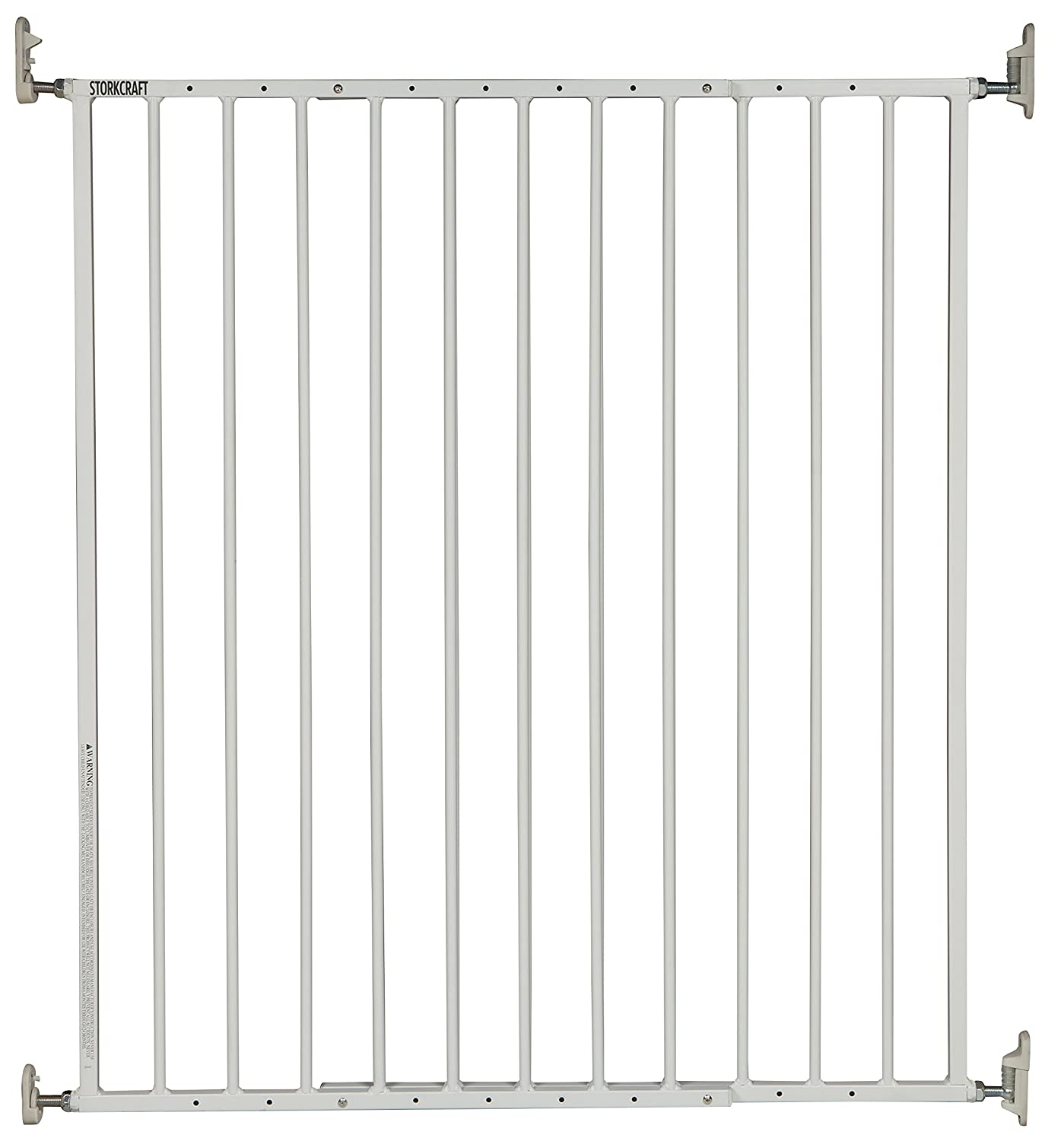 Storkcraft Easy Walk-Thru Tall Metal Safety Gate (White, Black, Gray) – 33.75 Inches Tall, Easy to Install, Pet-Friendly, Durable Metal Hardware, Ideal for Taller Children and Larger Pets