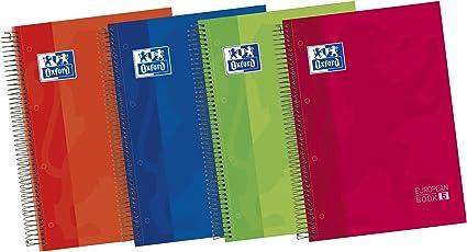 Oxford Classic 100430279 - Pack de 5 cuadernos espiral de tapa extradura, A4+: Amazon.es: Oficina y papelería