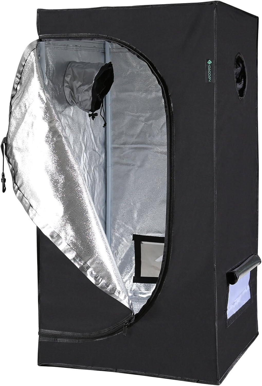 """Indo 24/""""x24/""""x48/"""" 1680D Mylar Hydroponics Grow Tent"""