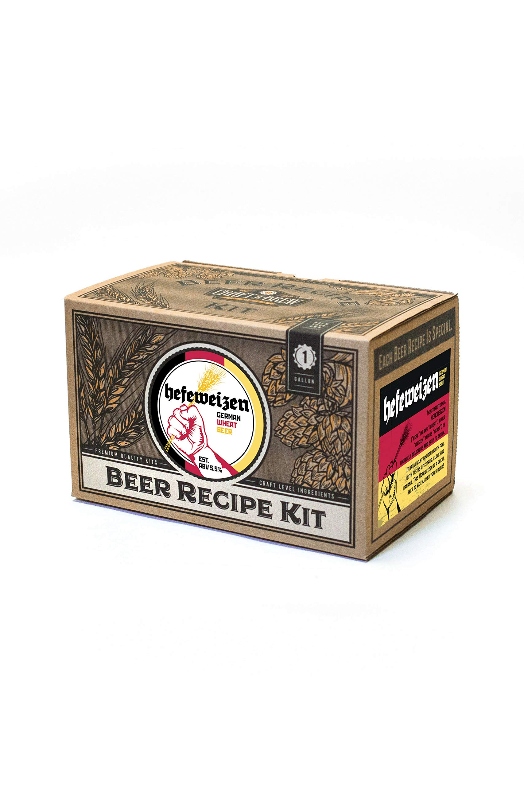 Home Brew Ingredient Kit - Craft a Brew 1 Gallon Beer Recipe Hefeweizen Beer Kit - Beer Recipe Kit - Make Your Own Beer with Home Brewing 1 Gallon Kits - Home Brewing Ingredient Kit by Craft A Brew