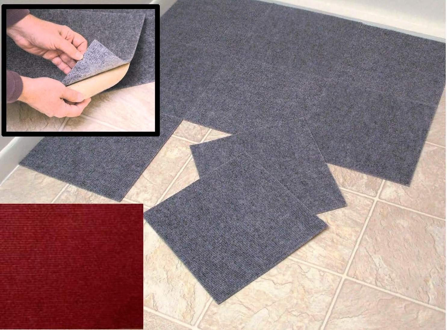 Amazon peel stick berber carpet tiles set of 10 gray by amazon peel stick berber carpet tiles set of 10 gray by jumbl kitchen dining baanklon Images