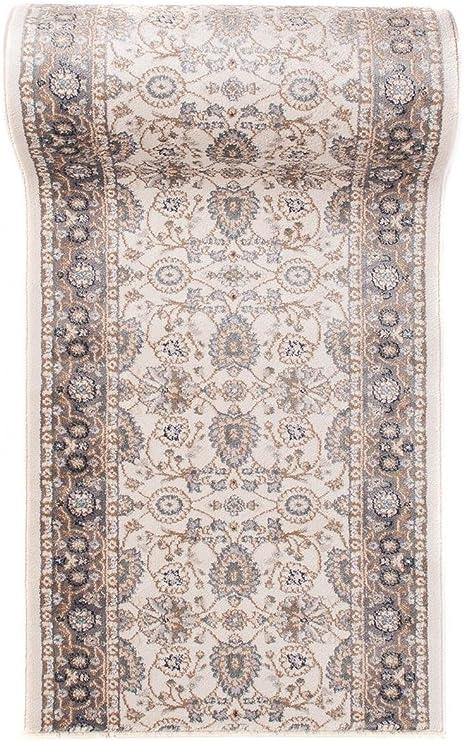 AYLA Kollektion von Carpeto/ 70 cm Breit 70 x 50 cm L/äufer Teppich Flur in Grau Orientalisch Klassischer Muster Br/ücke L/äuferteppich nach Ma/ß