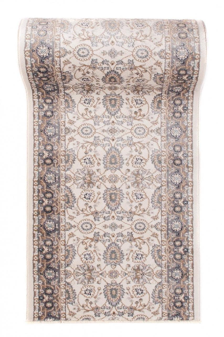 Läufer Teppich Flur in Creme Beige - Orientalisch Klassischer Muster - Brücke Läuferteppich nach Maß - 70 cm Breit - AYLA Kollektion von Carpeto  - 70 x 300 cm