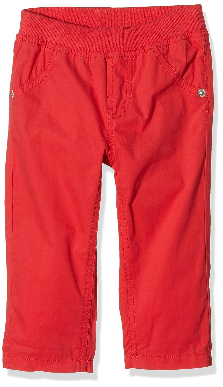 Bimbus Popelinone C/Costa In Vita, Pantalones para Bebés Rojo (Rosso 07) 6M 151IDBH003 B01G6ZOKNAROSSO 076 Misses