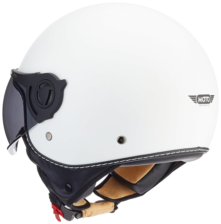 Helmet Casco de Moto XL Moto Helmets H44 Blanco//Italia 61-62cm