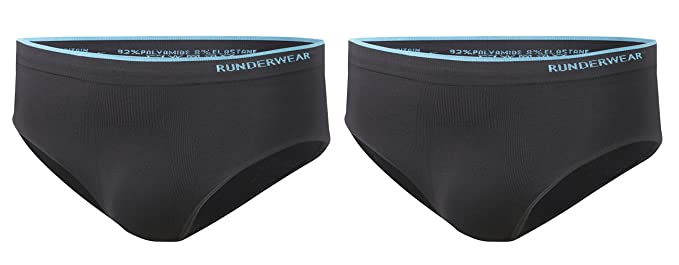 2 Pair Pack Chafe-Free Running Underwear Runderwear Mens Briefs