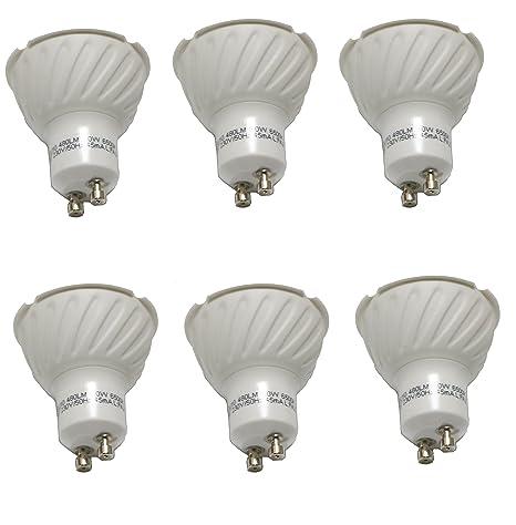 Bombillas LED Gu10 Lámparas Halógenas Equivalentes a 50W, Blanco 6500K, 6W , Spot luz