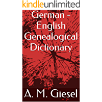 German - English Genealogical Dictionary