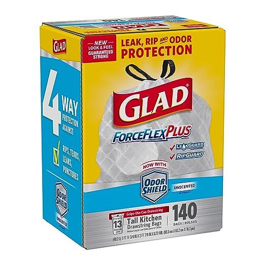 Glad ForceFlexPlus - Bolsas de basura con cordón alto para ...