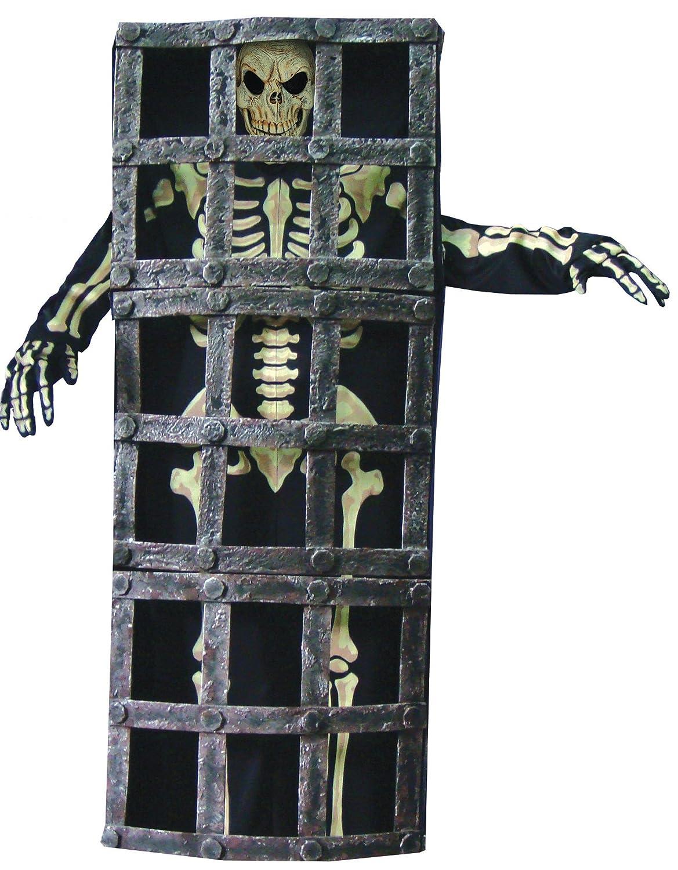 Disfraz de esqueleto en jaula adulto - Única: Amazon.es: Juguetes ...