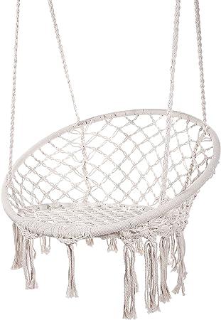 Amazon Com Karriw Hammock Chair Macrame Swing Cotton Hanging