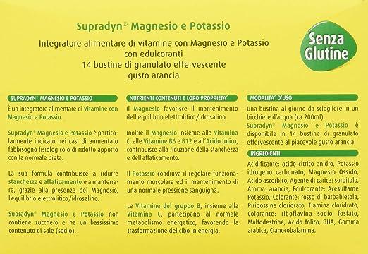 Amazon.com: Supradyn Magnesium and Potassium Effervescent Granules Orange Food Supplement 14 Sachets: Health & Personal Care