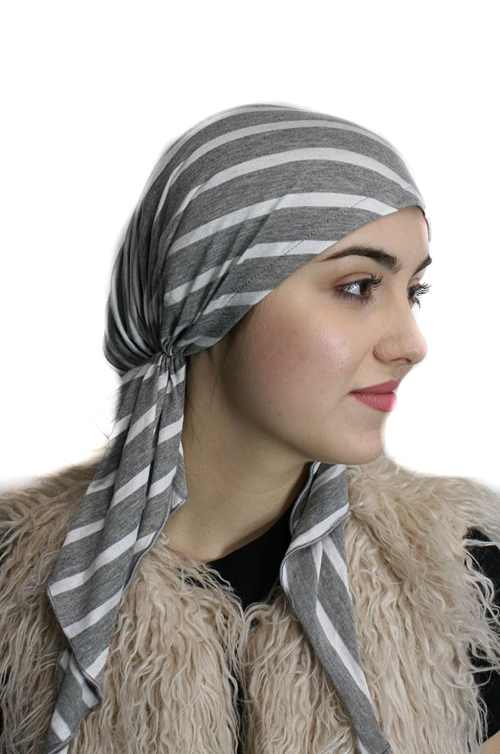 Soft Comfortable Pre-Tied Fitted HEADSCARF for HAIR LOSS and Chemotherapy