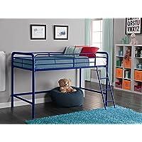 DHP Junior Loft Bed Frame With Ladder (Navy Blue)