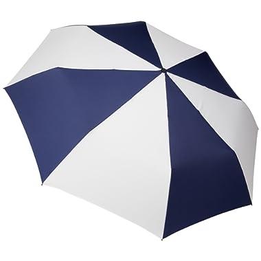 totes Auto Open Close Golf Size Umbrella,  Navy/White,  One Size