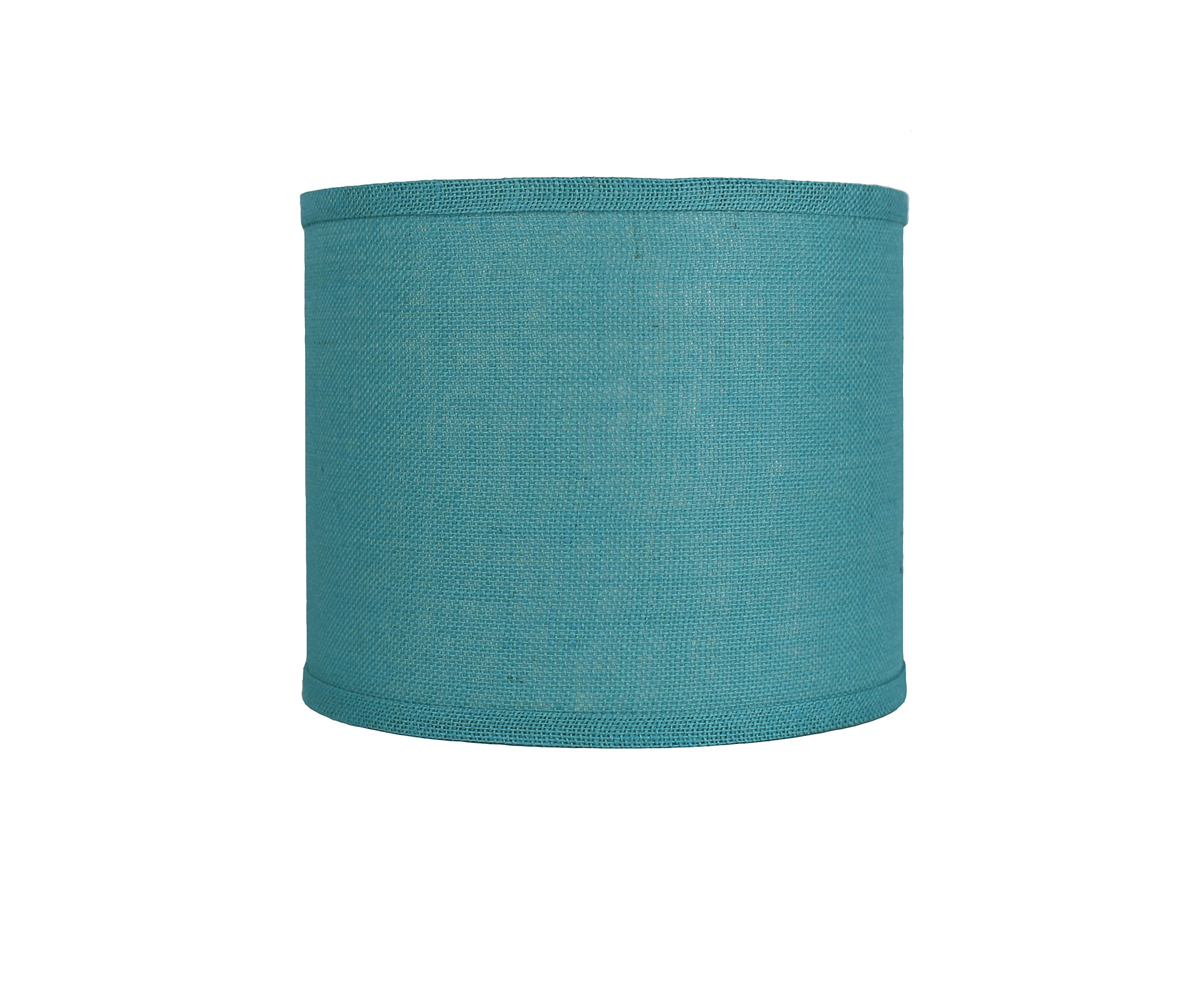 Urbanest Classic Drum Burlap Lampshade, 12-inch by 12-inch by 10-inch, Spa