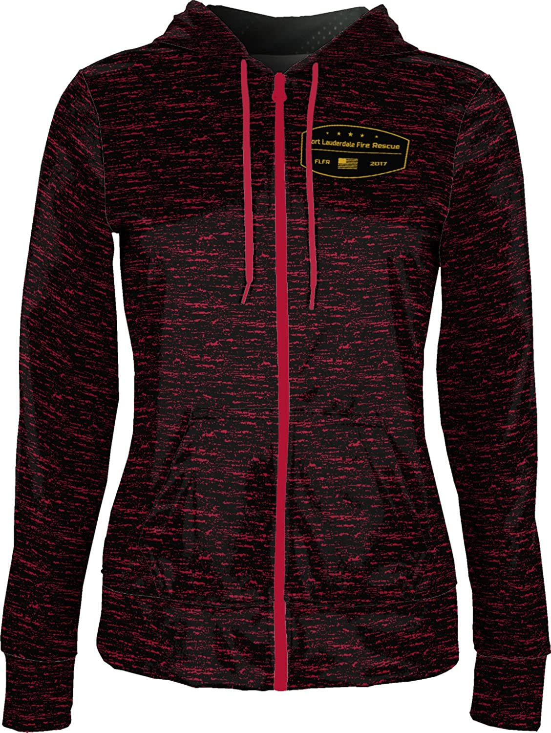 Women's Fort Lauderdale Fire Rescue Fire Department Brushed Fullzip Hoodie