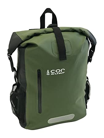 Waterproof Dry Bag Backpack with Padded Laptop Sleeve (25L Green ... 6ff99b027cd2a