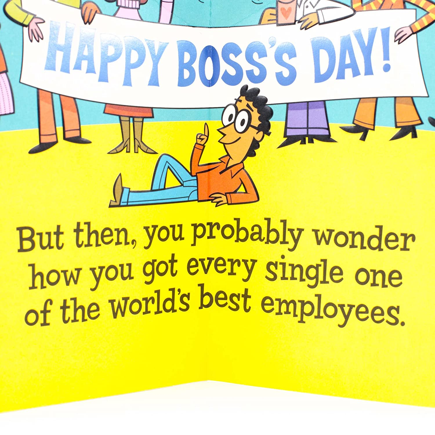 Amazon Hallmark Funny Bosss Day Card From All Card For Boss
