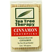 Tea Tree Therapy palillos de dientes, canela, 100