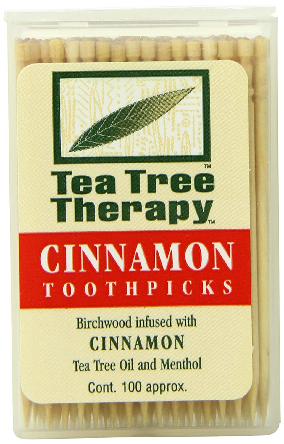 Tea Tree Therapy Toothpicks Cinnamon Tea Tree Therapy 100 ct Toothpick 0637792505002