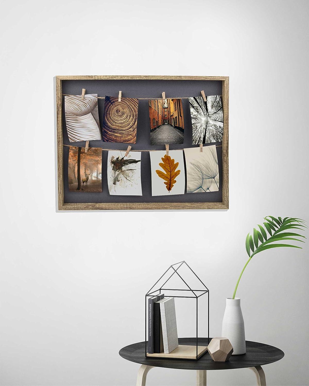 Nature 8 Photos /à 10x15 cm Gallery Solutions Cadre Photo Collage Corde /à Linge avec Clips