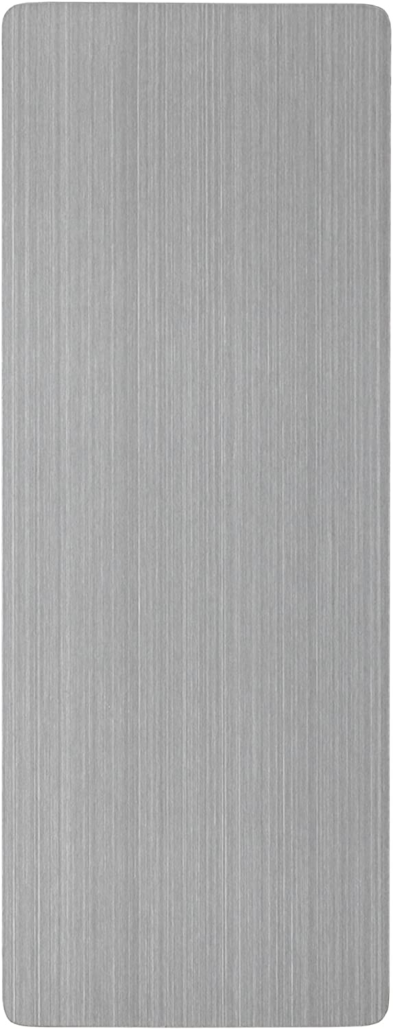 Three By Three Seattle 4 X 11-Inch Enlister Dry-Erase Magnet Board, Stainless (33040)