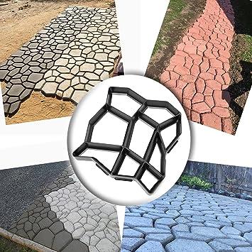 Zerone Molde de pavimento, molde para hacer caminos, reutilizable, diseño de cemento de