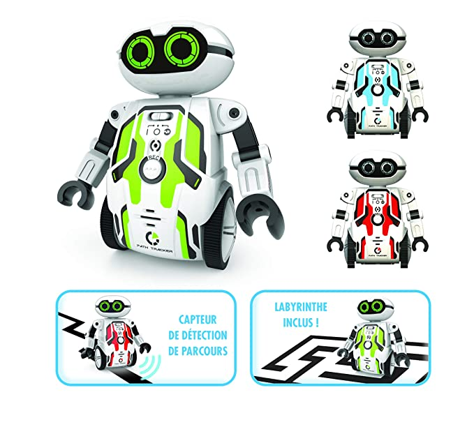 Silverlit Maze Breaker , Put it on The Maze(Included) & it Will find The Way Out - an Inspiring Robot That enhances Kids' imaginations with More Than 8 Features. Free App for Extra Fun