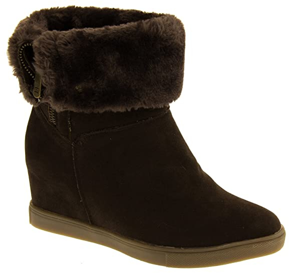 Buy Keddo Womens Faux Suede WINTEX Lined Ankle Bootsx