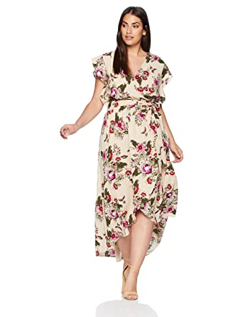 City Chic Womens Apparel Womens Plus Size Maxi Lolita Floral At