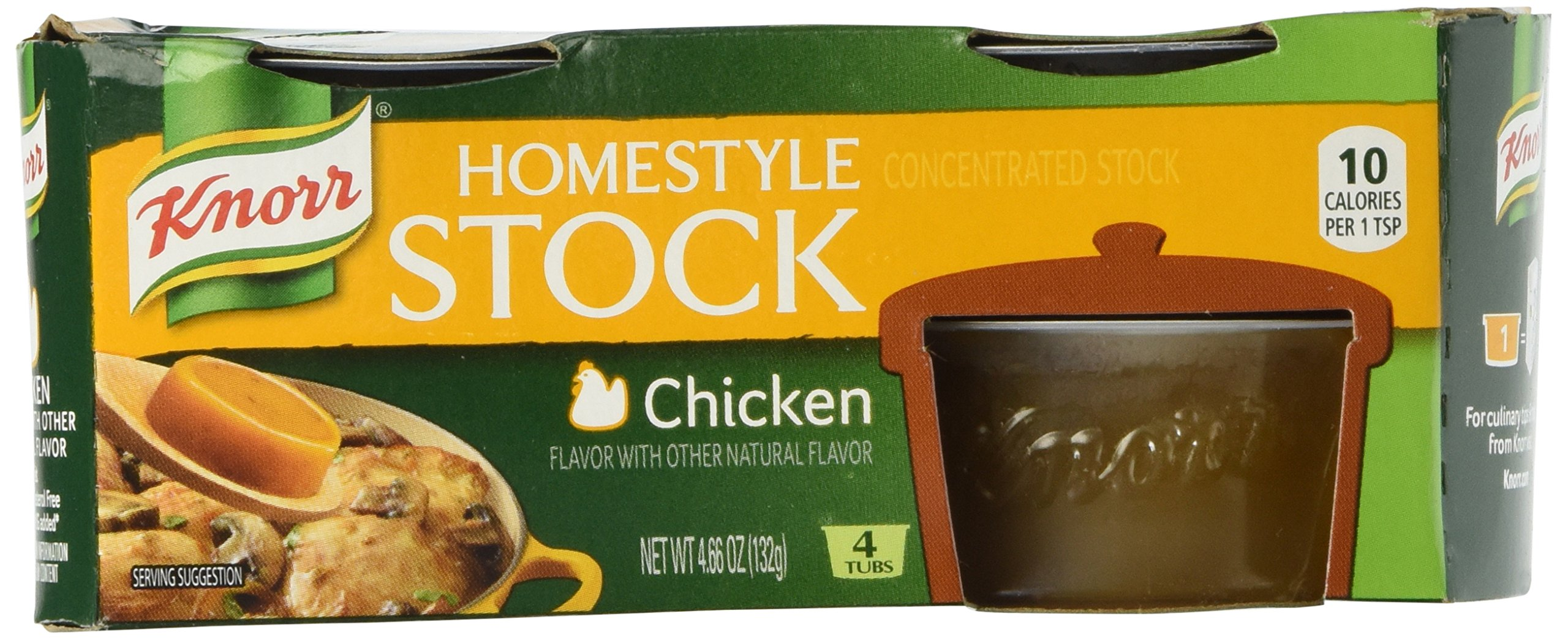 Knorr Homestyle Chicken Stock - 4.66 oz - 4 ct - 2 Pack