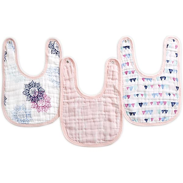 Cricket Baby Feeding Bib with Easy Fastening When I Grow Up. Pink Trim