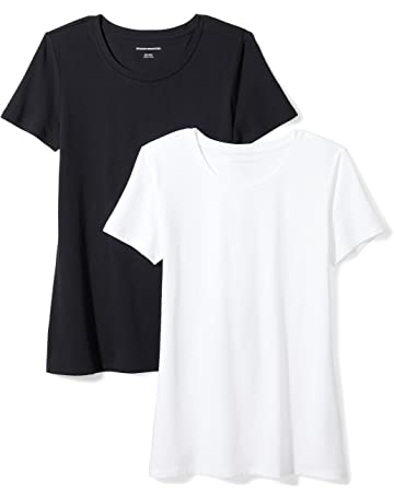 34695a6f Amazon Essentials Women's 2-Pack Classic-Fit Short-Sleeve Crewneck T-Shirt