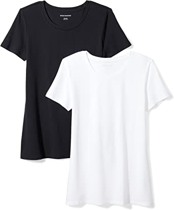Free Shipping T-Shirt Women/'s and Mens Short Sleeve black Crew basic neck top Fun Tops For You And Him