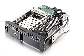 Dshot® aleación de aluminio Bahía de 5,25 pulgadas Bandeja menos Mobile Rack con frontal de aluminio Puerta para 3.5