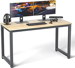 Computer Desk 39 inch Modern Sturdy Office Desk Study Writing Desk for Home office, Coleshome, Walnut