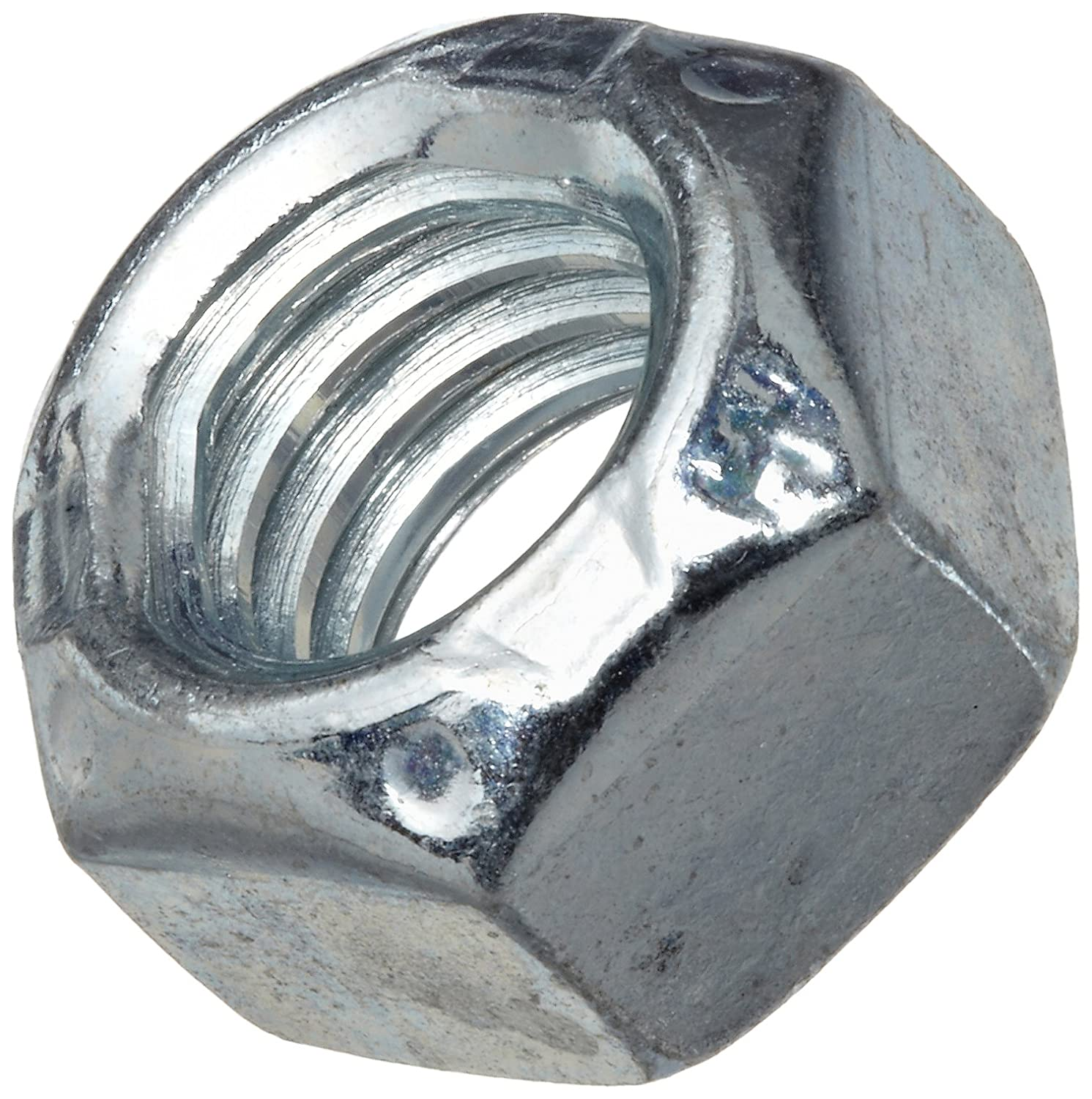 Grade C 3//8-16 Threads Pack of 100 Self-Locking Top Lock Right Hand Threads Steel Hex Nut Zinc Plated Finish