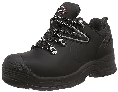 Sanita San-Safe Amazon Lace Shoe, Zapatos de Seguridad Unisex Adultos, Negro (Black 2), 41 EU