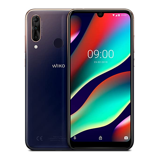 """WIKO View3 Pro + Carcasa - Smartphone de 6,3"""" FHD+ (Triple Cámara, 4000mAh para 2 días de autonomía, 4GB de RAM, 64GB de ROM, Octa-Core 2.0 GHz, ..."""