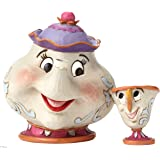 Disney Traditions by Jim Shore Beauty and the Beast Mrs. Potts and Chip Stone Resin Figurine, 4.15""