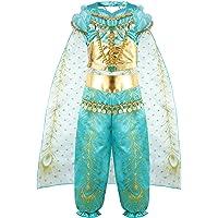 vamei Disfraz Niña Jasmine Princesa Vestido Traje Navidad