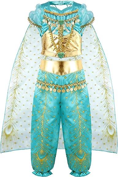 vamei Disfraz Niña Jasmine Princesa Vestido Traje Navidad Regalo ...